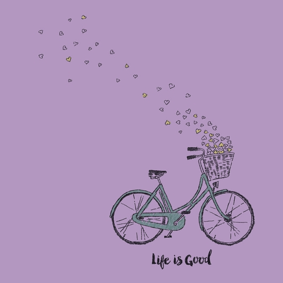 Home & Pet Bike Heart Basket Life Is Good Wall Art | Life Is Good Within Life Is Good Wall Art (View 17 of 20)