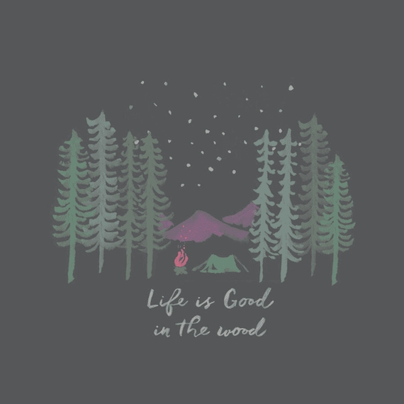 Home & Pet Life Is Good In The Woods Wall Art | Life Is Good Throughout Life Is Good Wall Art (View 8 of 20)