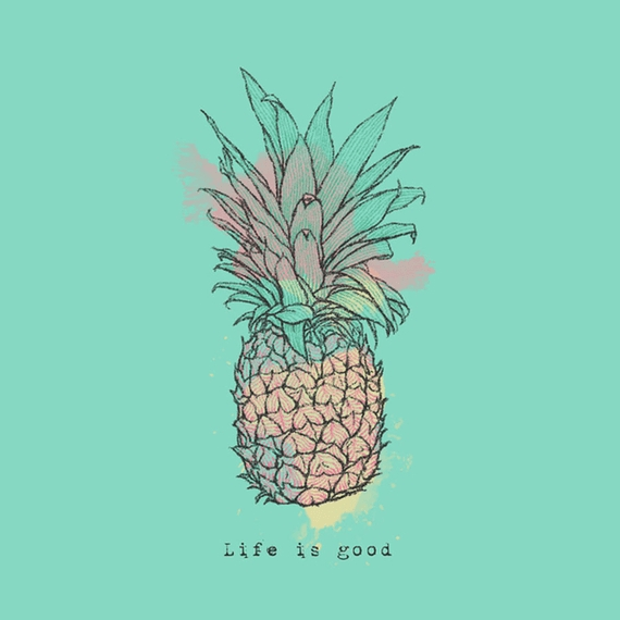 Home & Pet Life Is Good Pineapple Wall Art | Life Is Good With Life Is Good Wall Art (View 11 of 20)