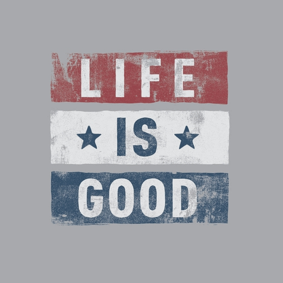Home & Pet Stars Stripes Life Is Good Wall Art | Life Is Good Regarding Life Is Good Wall Art (View 15 of 20)