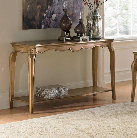 Homelegance Chambord Champagne Gold Sofa Table 1828 05 For Gold Sofa Tables (View 20 of 20)