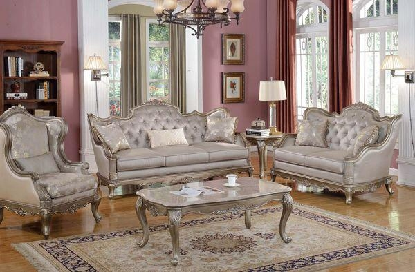 Homelegance Fiorella Love Seat & Sofa In Dusky Taupe – Beyond Stores Within Homelegance Sofas (Image 6 of 20)