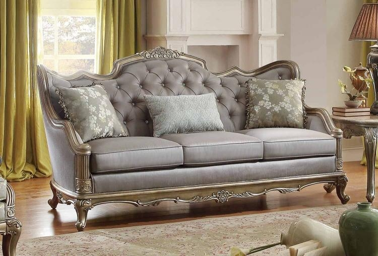 Homelegance Fiorella Sofa Set – Dusky Taupe 8412 Sofa Set Within Homelegance Sofas (Image 7 of 20)