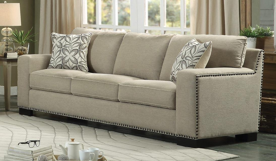 Homelegance Gowan Sofa Set – Chenille – Beige 8477Nf 3 For Homelegance Sofas (Image 8 of 20)