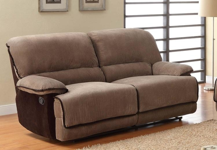 Homelegance Grantham Reclining Sofa Set – Brown – Corduroy U9717 3 Inside Brown Corduroy Sofas (Image 7 of 20)