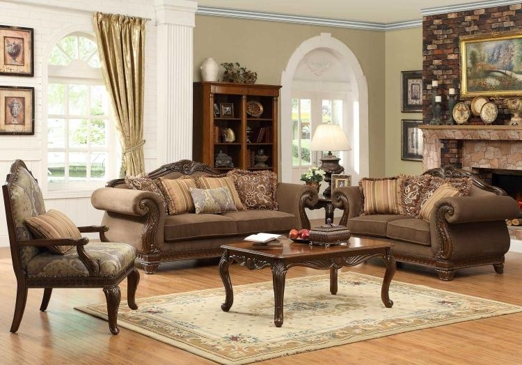 Homelegance Lambeth Sofa 5669 3 | Homelegancefurnitureonline For Homelegance Sofas (Image 10 of 20)