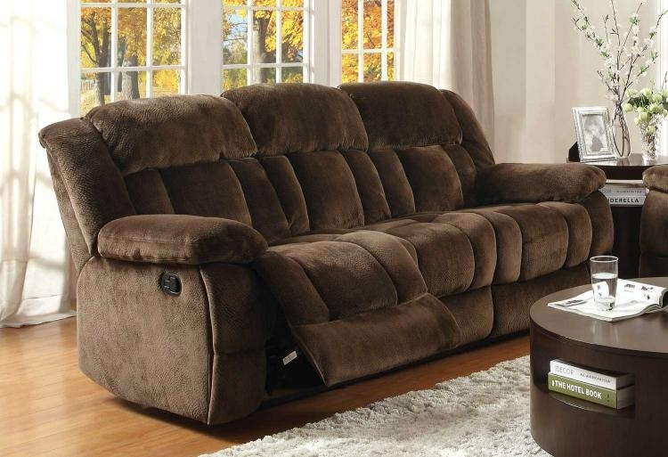 Homelegance Laurelton Reclining Sofa Set – Dark Brown 9636Db Sofa Within Homelegance Sofas (Image 11 of 20)