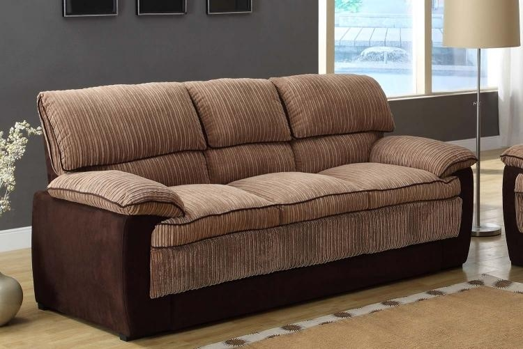 Homelegance Mccollum Sofa Set – Brown – Corduroy And Microfiber Throughout Brown Corduroy Sofas (Image 8 of 20)