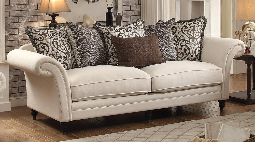 Homelegance Vicarrage Sofa – Polyester Blend – Cream 8456 3 Pertaining To Homelegance Sofas (Image 13 of 20)