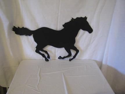 Horse 001 Af Western Metal Black Wall Yard Art Silhouette Regarding Western Metal Wall Art Silhouettes (Image 11 of 20)