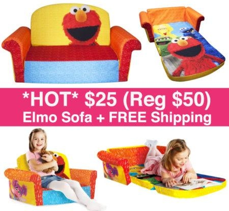 Hot* $25 (Reg $50) Elmo Sofa + Free Shipping – Free Stuff Finder Throughout Elmo Flip Open Sofas (Image 11 of 20)
