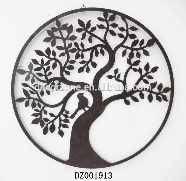 Hot Sale Round Tree Metal Wall Art Decor With Beautiful Design With Wrought Iron Tree Wall Art (View 15 of 20)