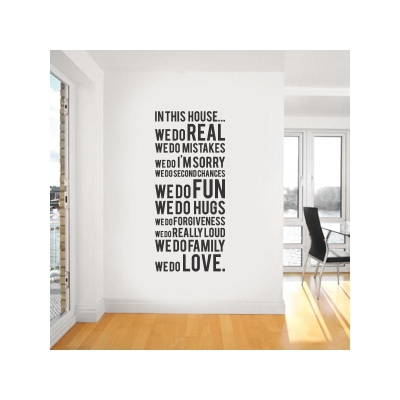 "House Rule ""we Do Real"" Vinyl Wall Regarding Modern Vinyl Wall Art (Photo 5 of 20)"