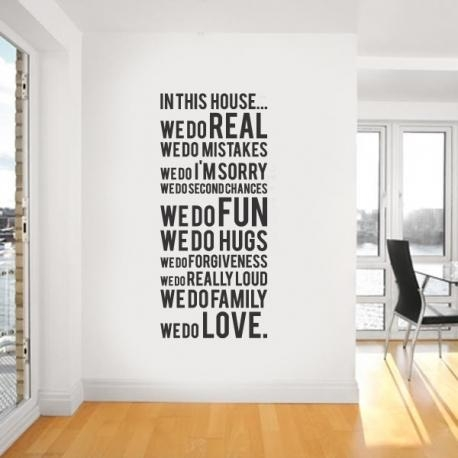 "House Rule ""we Do Real"" Vinyl Wall Within Modern Vinyl Wall Art (Photo 16 of 20)"