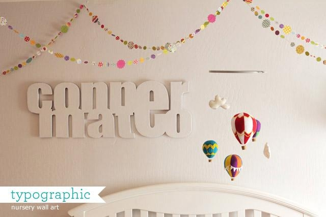 How Joyful Blog | Nursery: Typographic Baby Name Wall Art Intended For Baby Name Wall Art (Image 14 of 20)