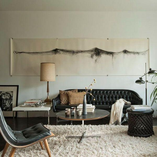 How To Decorate A Living Room With A Black Leather Sofa – Decoholic Inside Black Sofas For Living Room (Image 14 of 20)