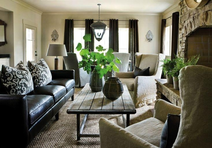 How To Decorate A Living Room With A Black Leather Sofa – Decoholic Pertaining To Black Sofas For Living Room (Image 15 of 20)