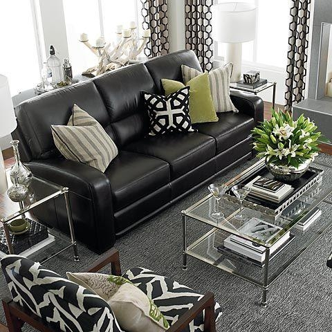 How To Decorate A Living Room With A Black Leather Sofa – Decoholic With Black Sofas For Living Room (Image 17 of 20)