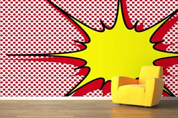 How To Make A Wall Pop With A Mural – Interior Designroberta Throughout Pop Art Wallpaper For Walls (View 14 of 20)