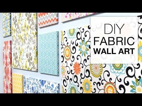 How To Make Fabric Wall Art – Easy Diy Tutorial – Youtube Inside Fabric Wall Art (Image 17 of 20)