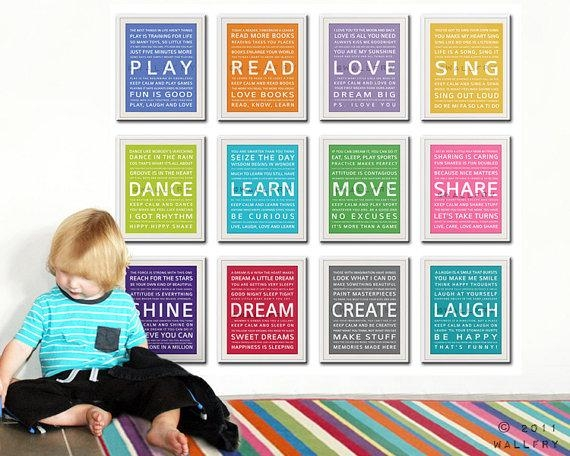 How Wonderful And Creative Unique Playroom Wall Art Ideas Kids Inside Wall Art For Playroom (View 4 of 20)