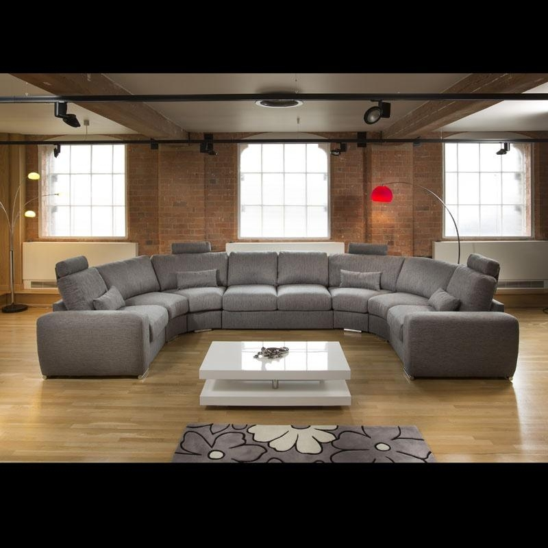 Huge/large Modern L Shape Quality Sofa / Settee Corner Group Grey 21 For Giant Sofas (Image 15 of 20)
