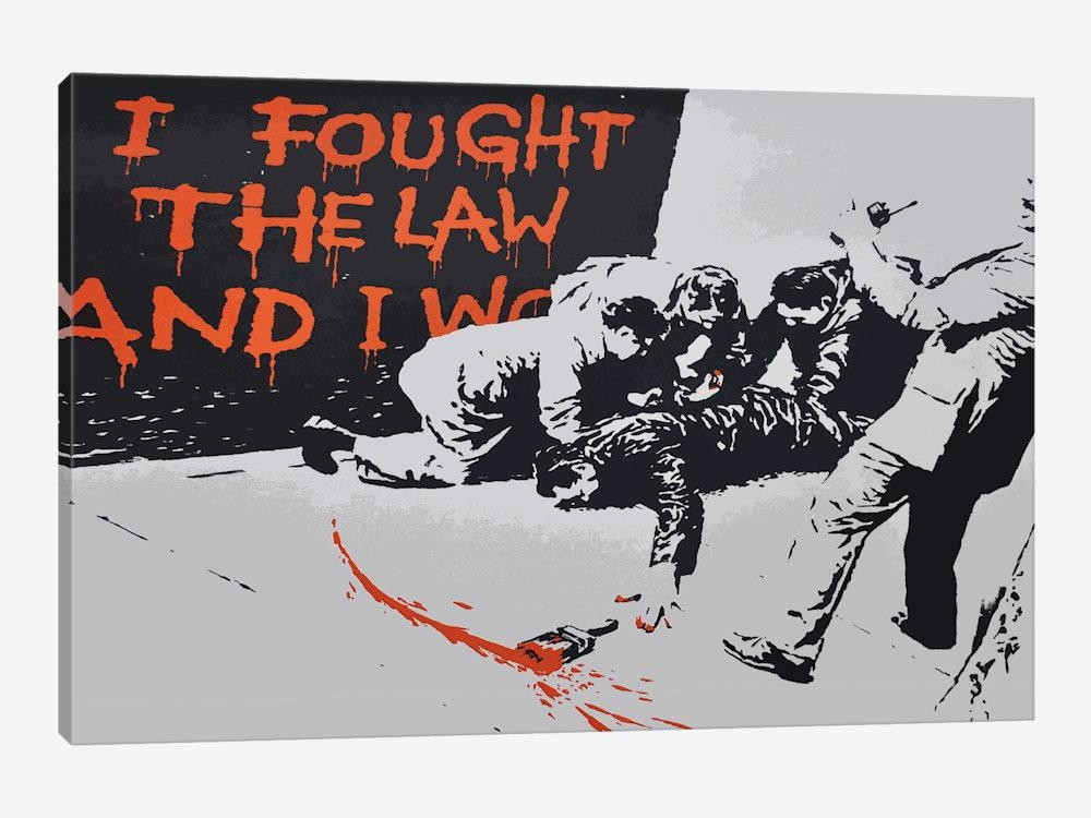 I Fought The Law And I Won Canvas Wall Artbanksy | Icanvas Pertaining To Banksy Canvas Wall Art (Image 14 of 20)