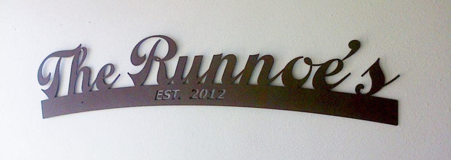 Impressive Family Name Metal Wall Art Last Name Wall Art Diy For Personalized Last Name Wall Art (View 2 of 20)