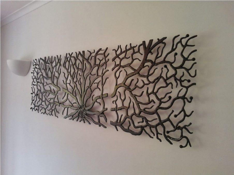 Impressive Metal Tree Wall Art Sculpture Uk Sculpture Wall Decor With Tree Sculpture Wall Art (Image 12 of 20)