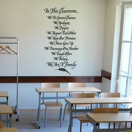 In This Classroom Wall Decal – Trading Phrases Regarding Preschool Classroom Wall Decals (Image 18 of 20)