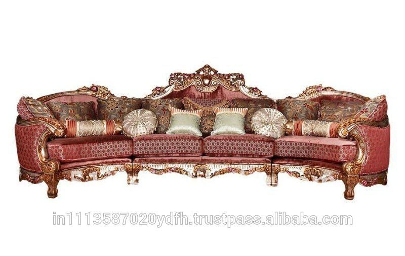 Indian Carved Sofa Set, Indian Carved Sofa Set Suppliers And Within Carved Wood Sofas (Image 7 of 20)