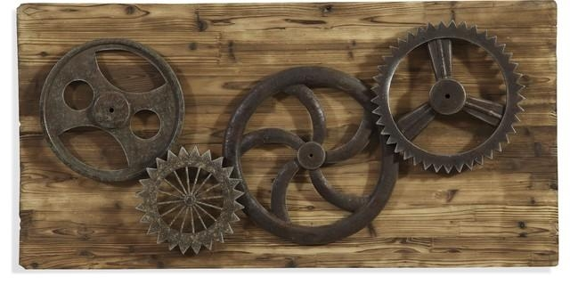 Industrial Gear Era Wall Art – Industrial – Wall Sculptures – For Industrial Wall Art (Image 9 of 20)