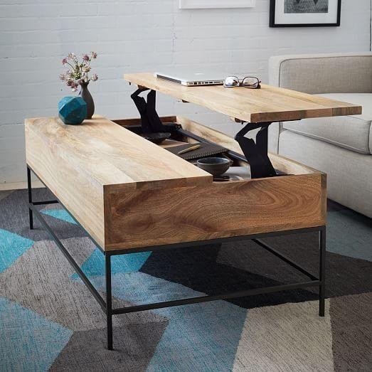 Industrial Storage Coffee Table | West Elm For Sofa Tables With Storages (View 19 of 20)