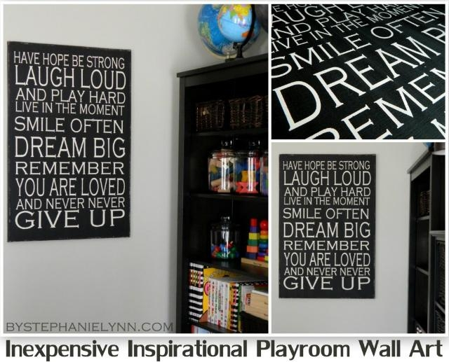 Inexpensive Inspirational Playroom Wall Art – Revisited {How To In Large Inspirational Wall Art (View 11 of 20)
