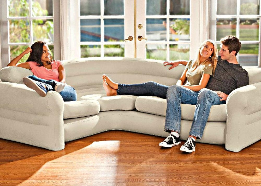 Inflatable Corner Sofa Sectional Intex Contemporary Living Room Regarding Intex Inflatable Sofas (View 20 of 20)
