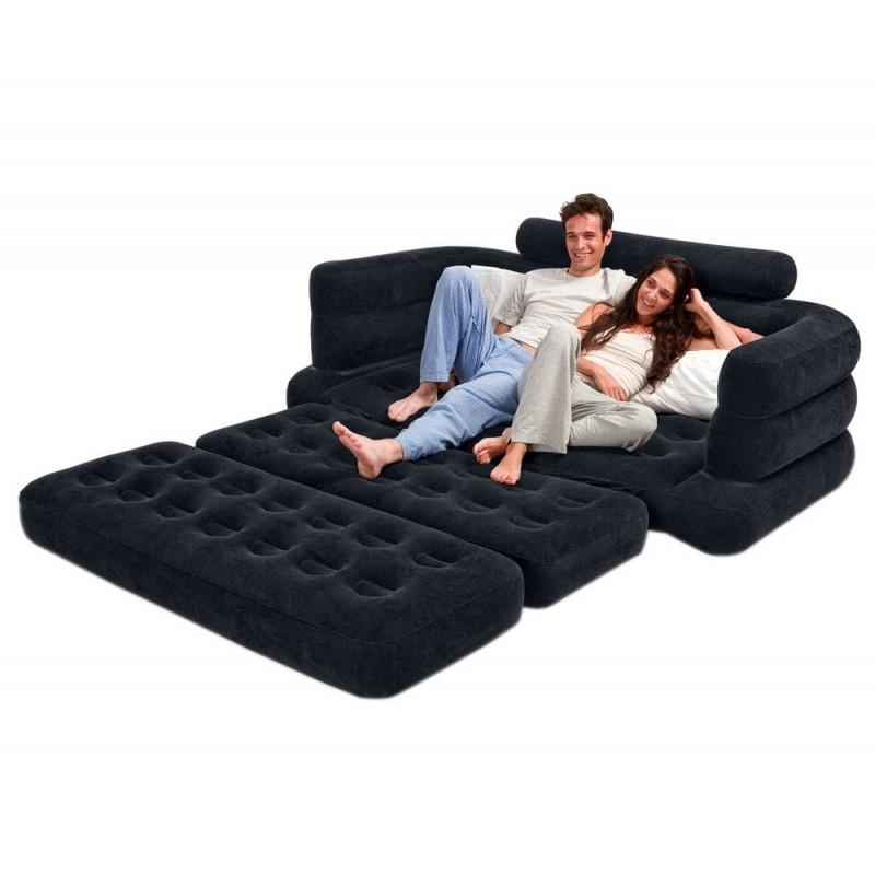 Inflatable Full Size Pull Out Sofa Cum Bed – Model Number 68566 On Pertaining To Inflatable Full Size Mattress (Image 13 of 20)