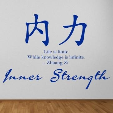 Inner Strength Chinese Proverb Wall Sticker Chinese Symbol Wall Art Intended For Chinese Symbol For Inner Strength Wall Art (Image 20 of 20)