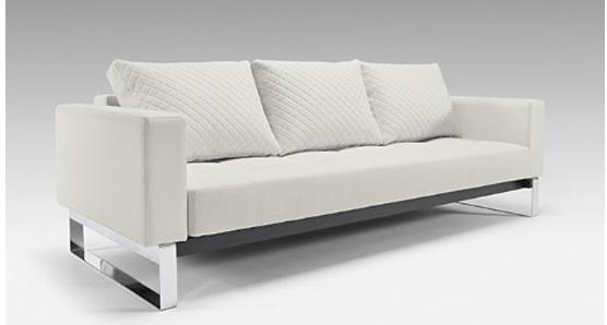 Innovation Cassius Q Deluxe Sleeper Sofa | Ambiente Modern Furniture Intended For Sofas With Chrome Legs (Image 8 of 20)