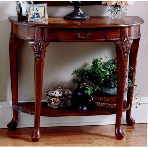 Innovative Cherry Accent Table Cherry Accent Table With Drawer Within Cherry Wood Sofa Tables (Image 7 of 20)