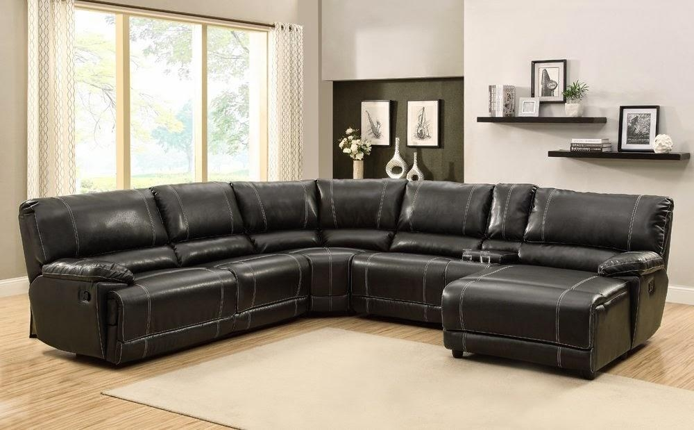 Inspiration Idea Black Leather Sofa With Chaise And Corner Sofas Throughout Black Leather Chaise Sofas (View 7 of 20)