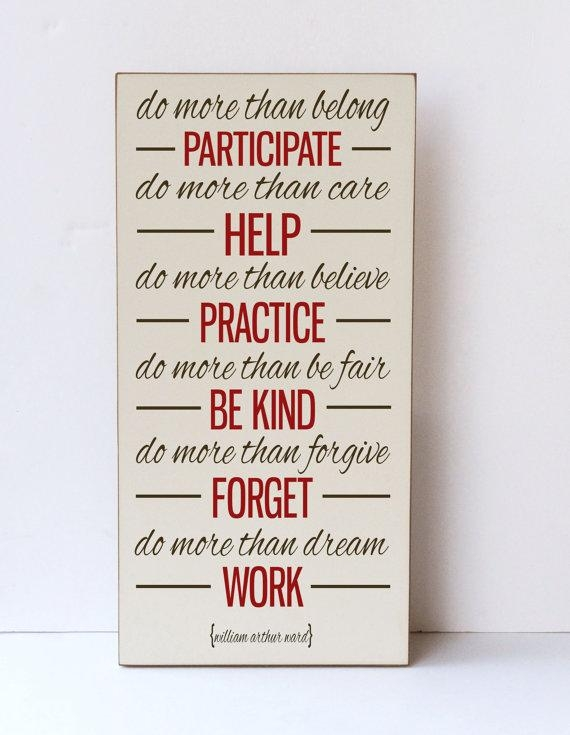 Inspirational Quote Wood Sign Typography Wall Art Farmhouse Throughout Inspirational Sayings Wall Art (View 5 of 20)