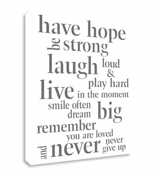 Inspirational Wall Art | Roselawnlutheran Within Inspirational Sayings Wall Art (Image 15 of 20)