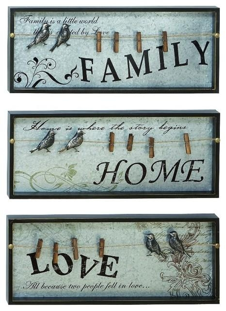Inspirational Wall Plaques With Photo Clips, 3 Piece Set With Regard To Inspirational Wall Plaques (Image 14 of 20)