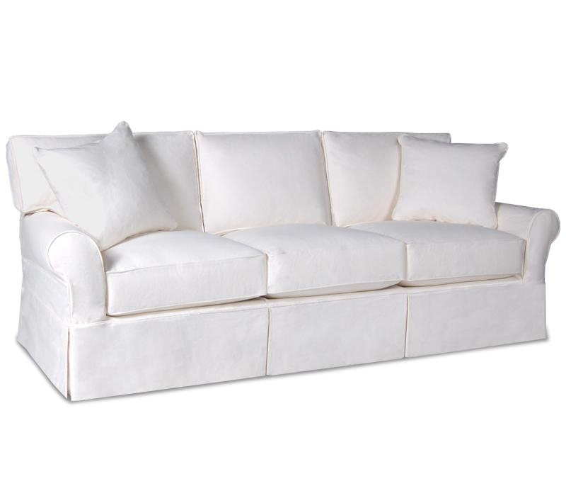 Inspiring Slipcovered Sleeper Sofa Sure Fit Stretch Pique Full Pertaining To Slipcovers For Sleeper Sofas (Image 5 of 20)