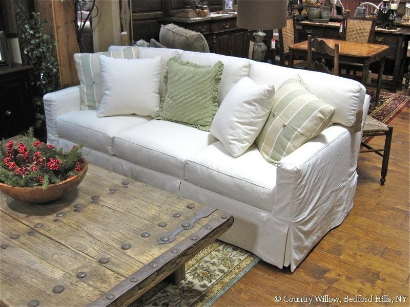 Inspiring Slipcovered Sleeper Sofa Sure Fit Stretch Pique Full Throughout Sleeper Sofa Slipcovers (Image 5 of 20)