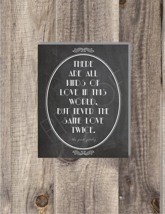 Instant Download The Great Gatsby Never The Same Love With Regard To Great Gatsby Wall Art (Image 13 of 20)