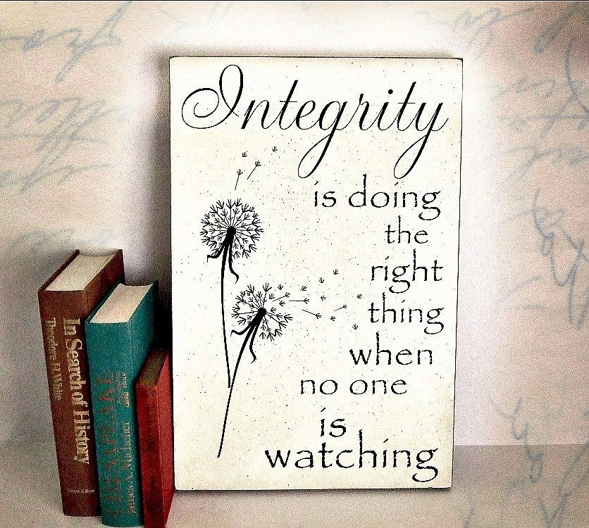 Integrity Quotec S Lewis Integrity Is Doing The Right Regarding Inspirational Wall Plaques (Image 15 of 20)