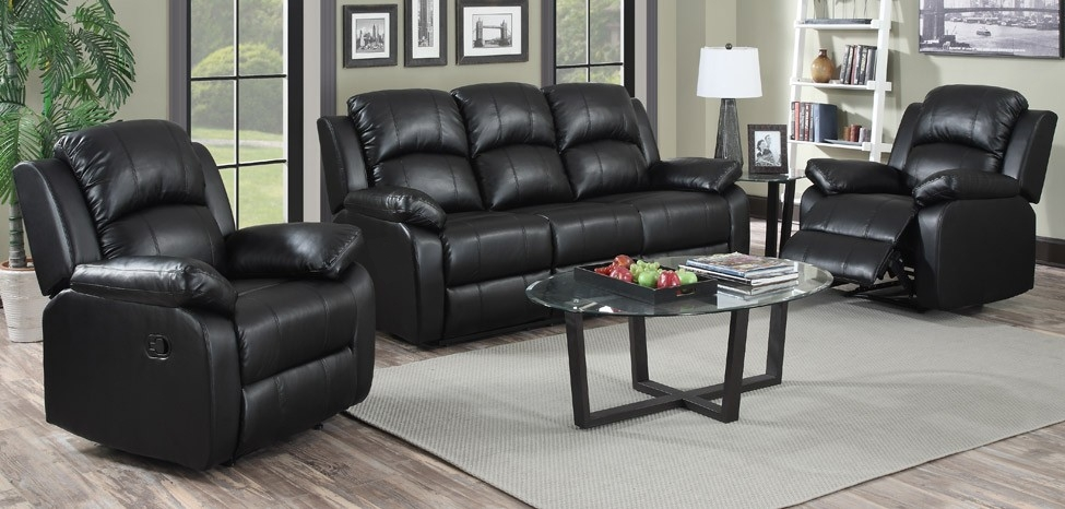 Interesting Black Leather Sofa Set Size Of Sofas Centerreclining With Black Leather Sofas And Loveseats (Image 12 of 20)
