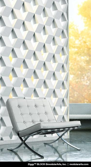 Interlockingrock® Blocks For Screen Wall Partitions | Modulararts® Throughout Modular Wall Art (Image 10 of 20)