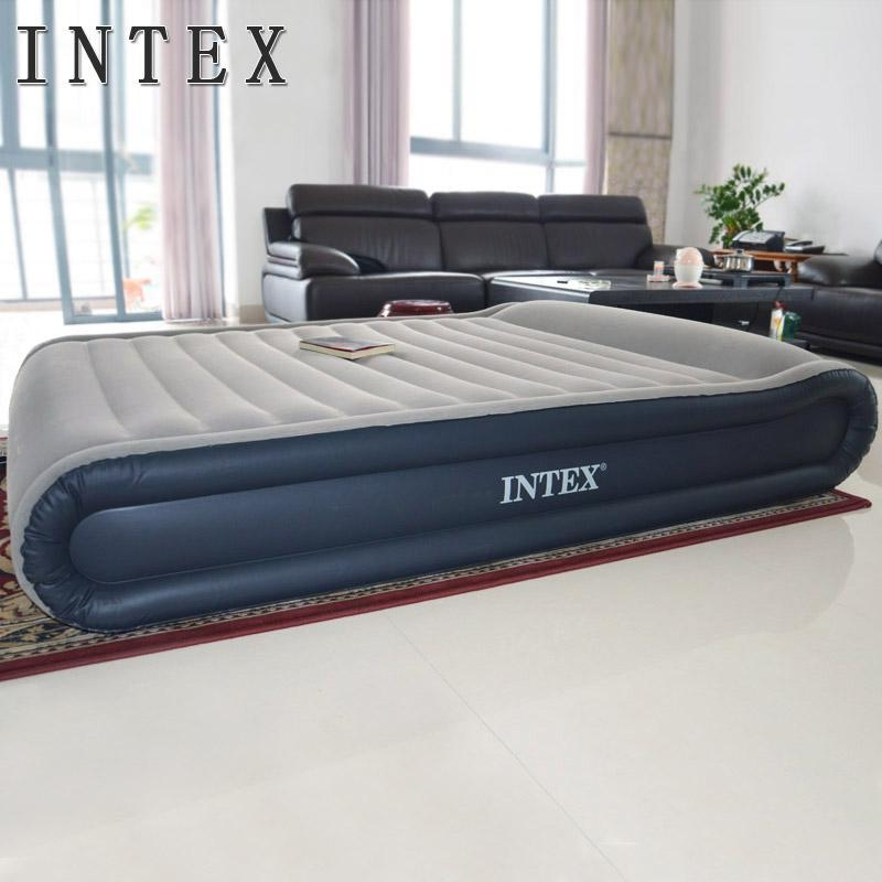 Intex Air Bed, Queen Size Inflatable Mattress With Bulit In With Regard To Inflatable Full Size Mattress (Image 15 of 20)